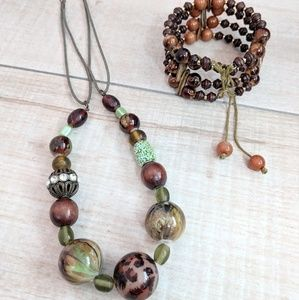 Boho Bundle Necklace & Bracelet Set
